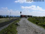 Die Brockenbahn zwischen Drei Annen Hohne und dem Brocken